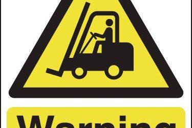 Fork Lift Truck Safety – Keep Pedestrians Away